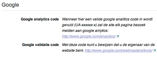 Google analytics en validatie
